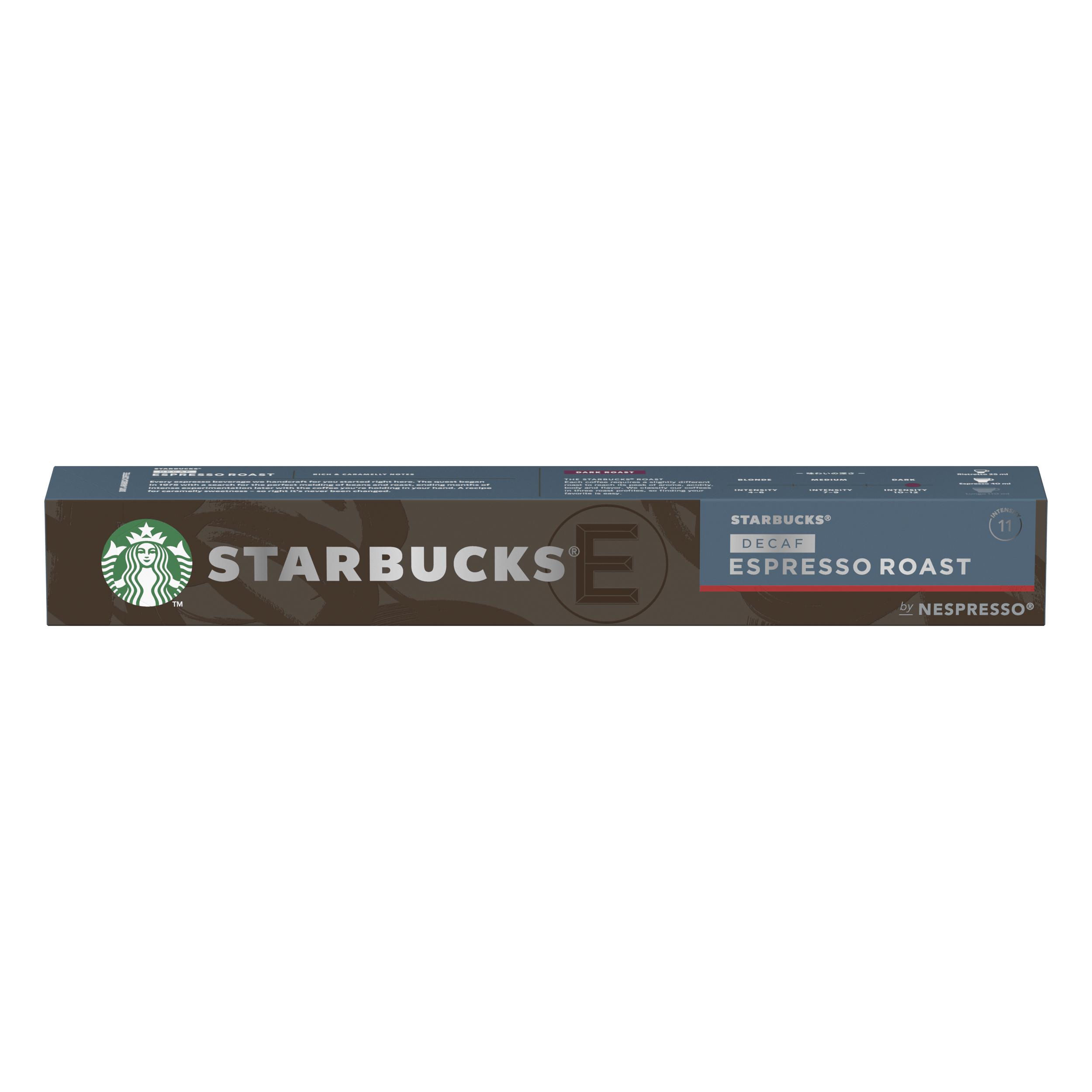 Instant coffee Starbucks by Nespresso Decaf Espresso 10x12x57g 120 Pods Ref 12423420