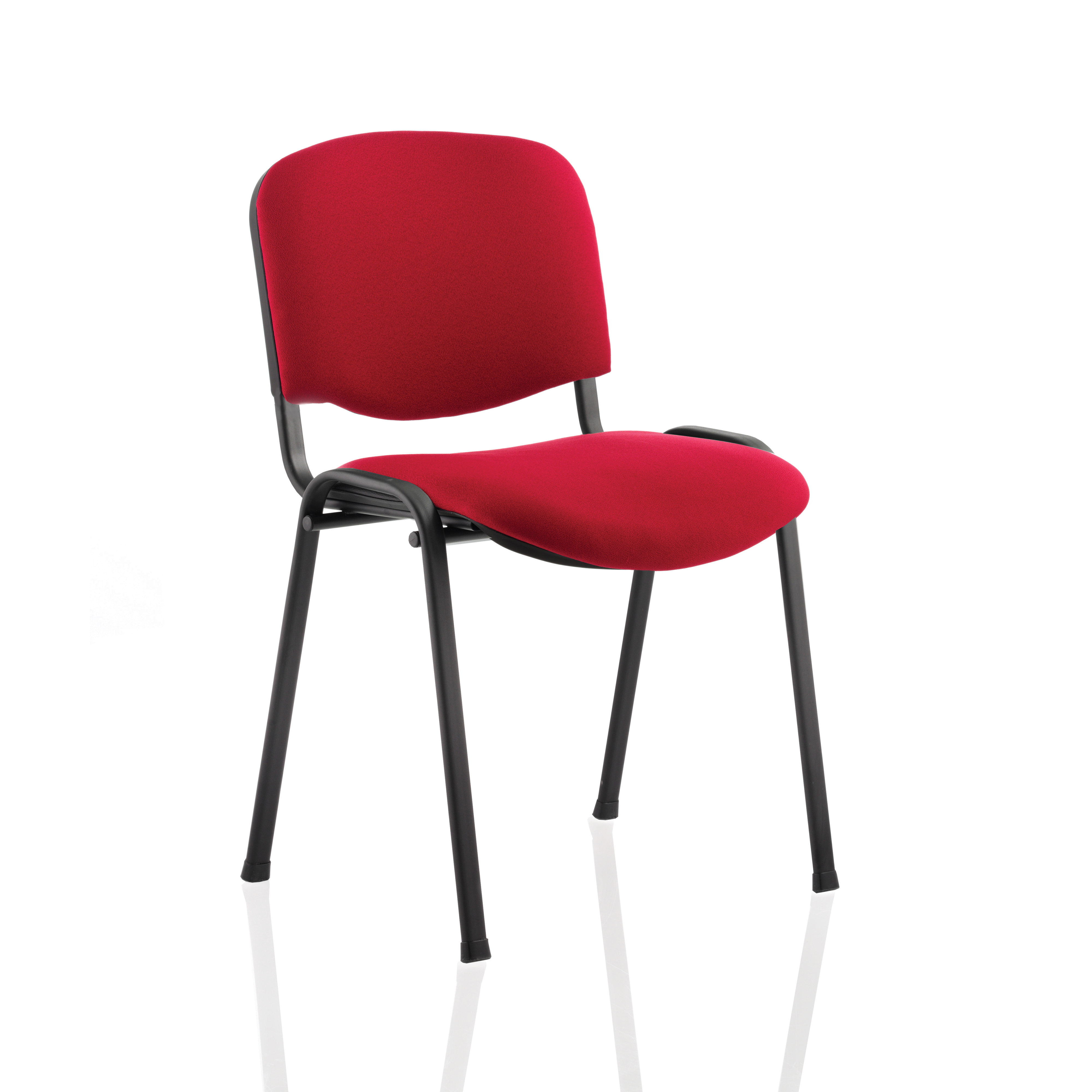 Trexus Stacking Chair Black Frame Red 480x420x500mm Ref T0477A008