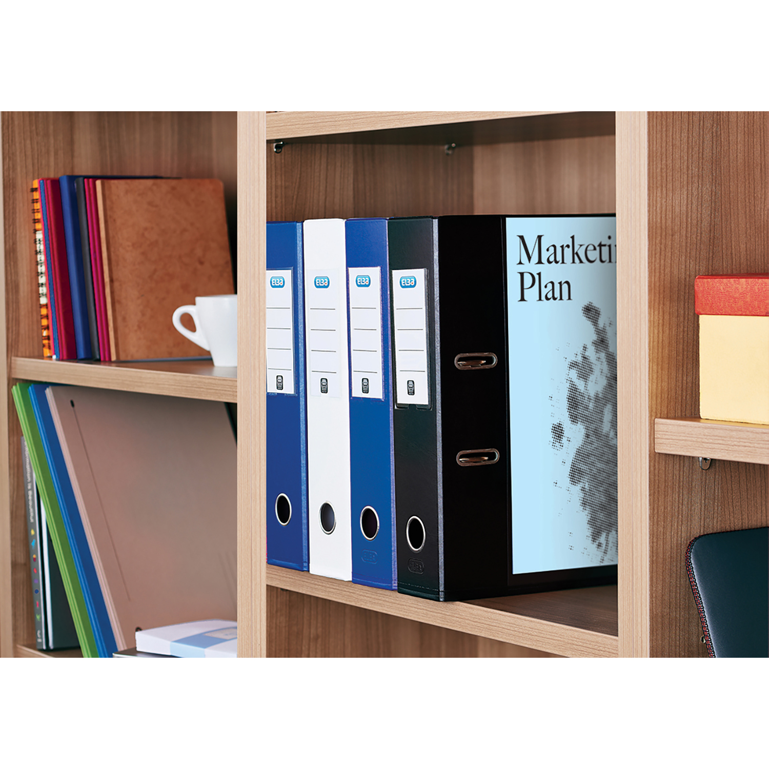Elba Lever Arch File with Clear PVC Cover 70mm Spine A4 Black Ref 100080896 [Pack 10]