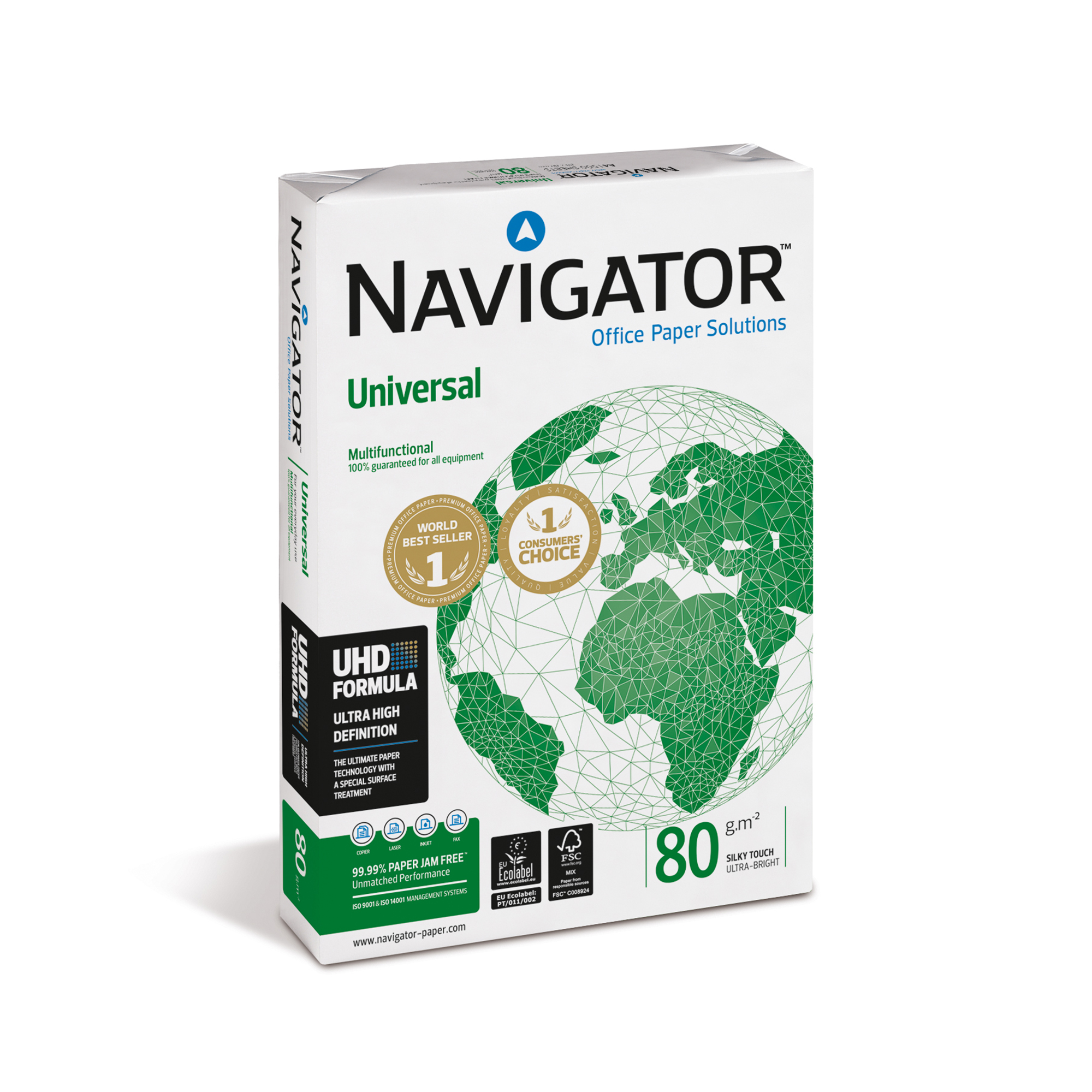 Navigator Universal Paper Multifunctional Ream-Wrapped - UK's Lowest Carbon 80gsm