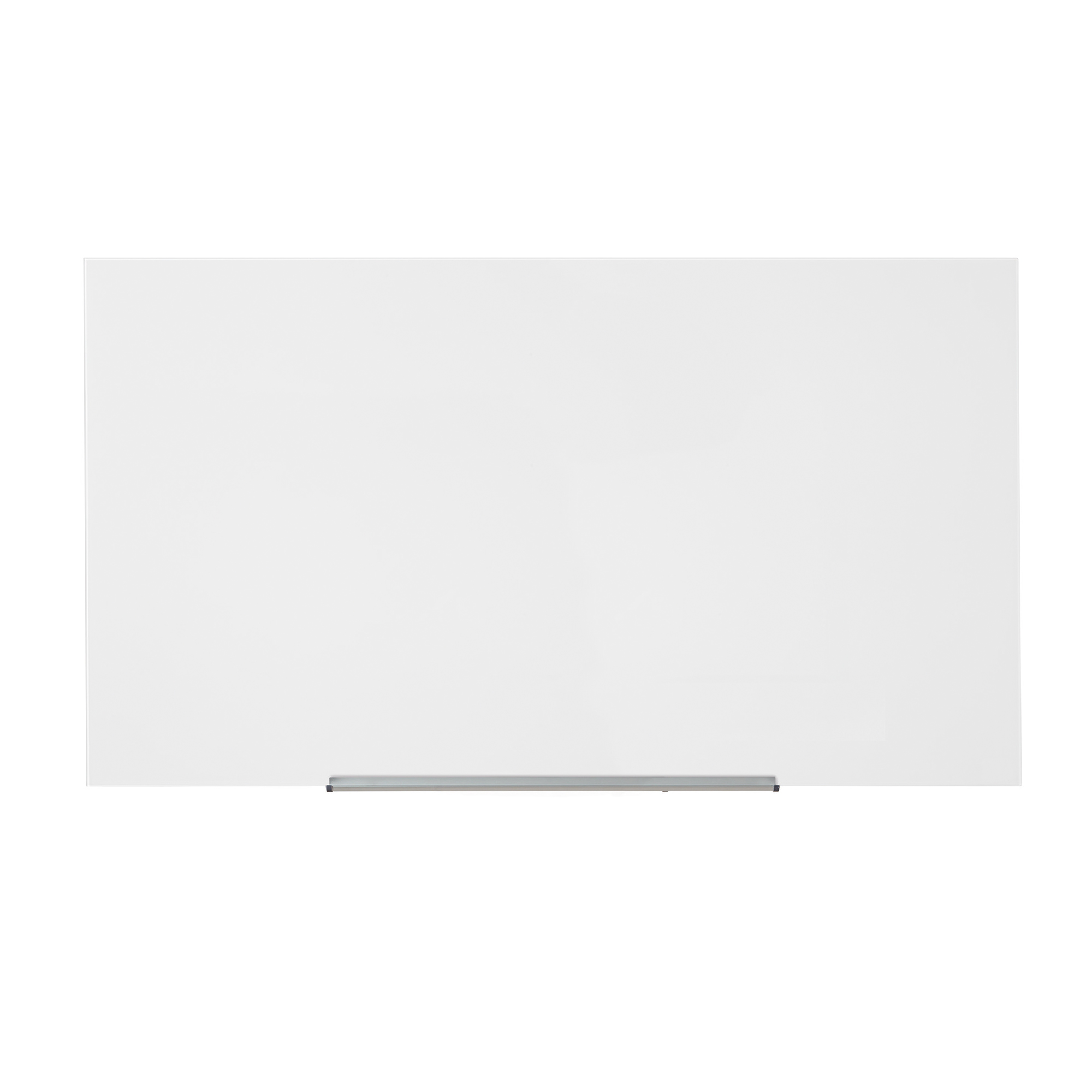 Magnetic 5 Star Office Glass Board Magnetic with Wall Fixings W1264xH711mm White