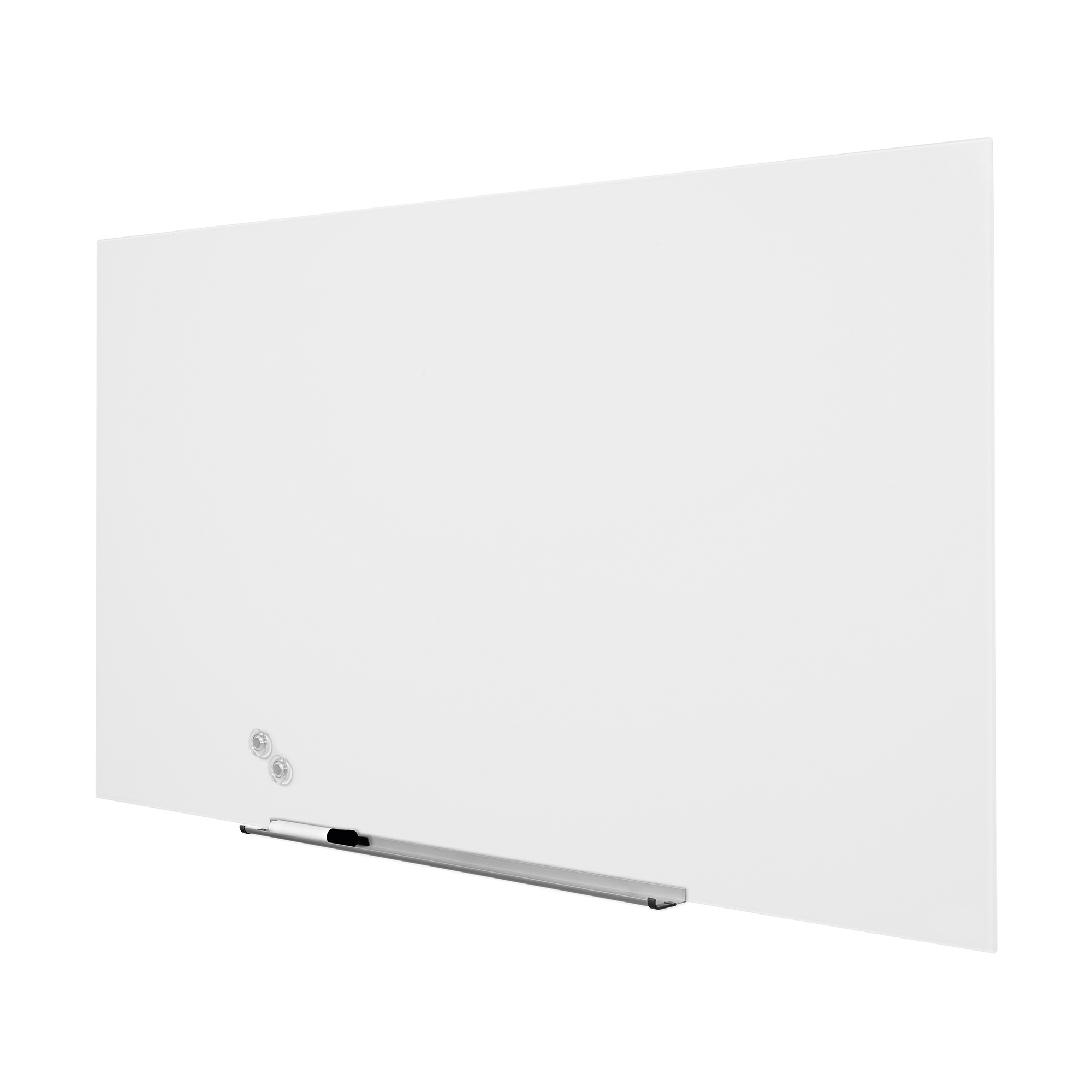 5 Star Office Glass Board Magnetic with Wall Fixings W1264xH711mm White