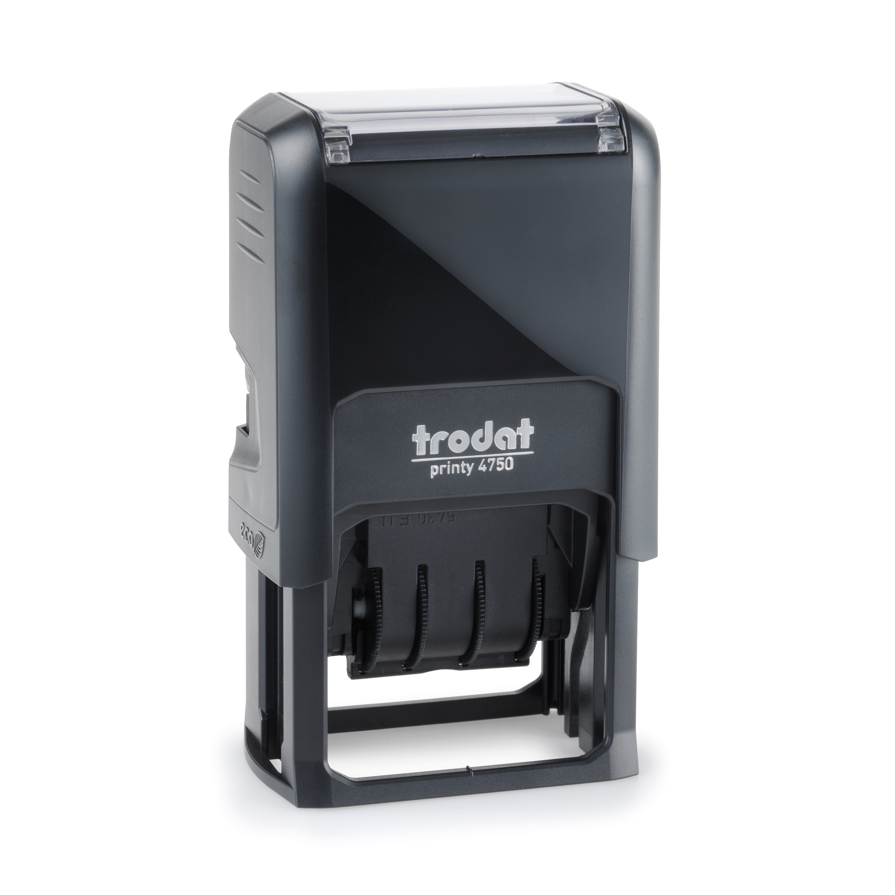 Trodat Printy 4750/L2 Dater Stamp Self-Inking Word/Date Paid in Blue Date in Red Ref 141365