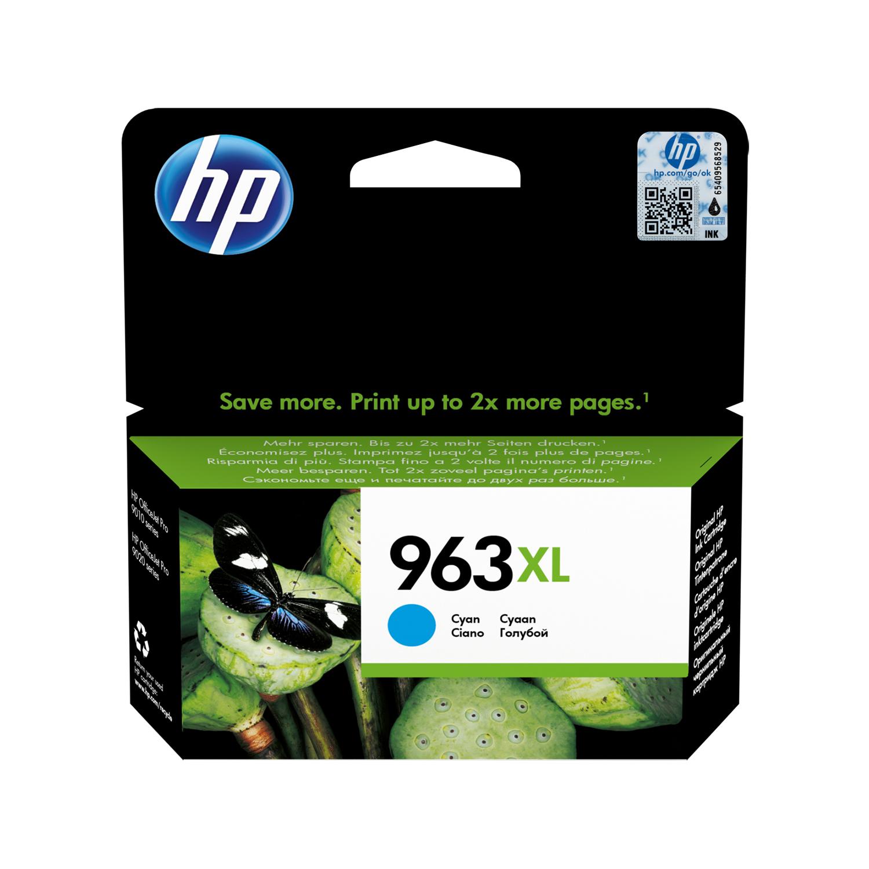 Ink cartridges Hewlett Packard 963XL Inkjet Cartridge High Yield Page Life 1600pp 22.77ml Cyan Ref 3JA27AE