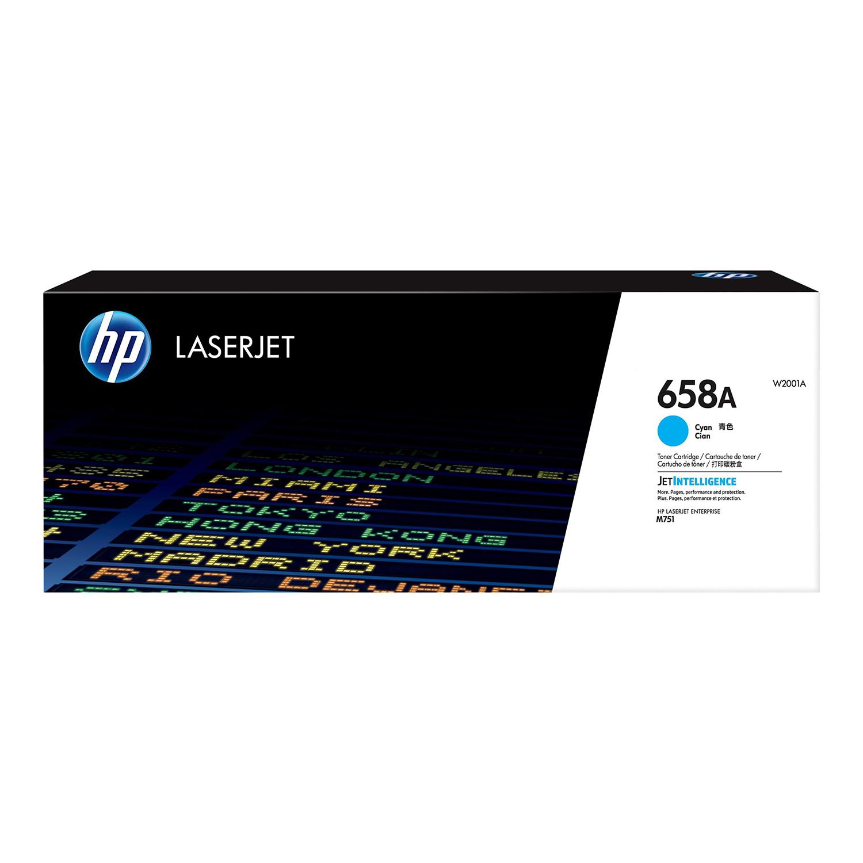 Hewlett Packard 658A Laser Toner Cartridge Page Life 6000pp Cyan Ref W2001A