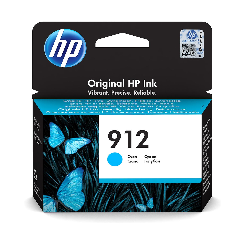 Hewlett Packard 912 Inkjet Cartridge Page Life 315pp 2.93ml Cyan Ref 3YL77AE