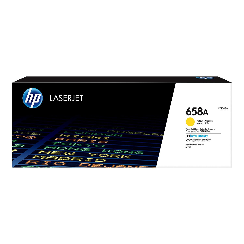 Hewlett Packard 658A Laser Toner Cartridge Page Life 6000pp Yellow Ref W2002A