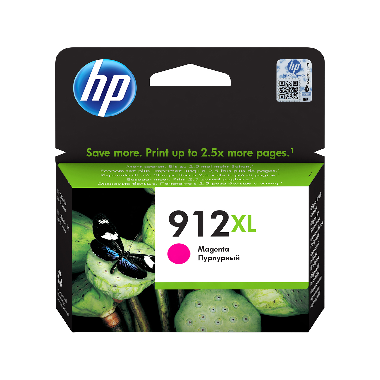 Ink cartridges Hewlett Packard 912XL Inkjet Cartridge High Yield Page Life 825pp 10.4ml Magenta Ref 3YL82AE