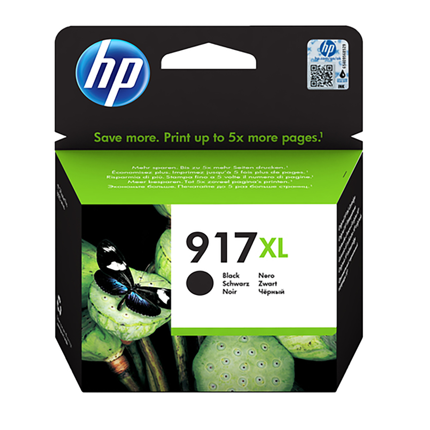 Hewlett Packard 917XL Inkjet Cartridge High Yield Page Life 1500pp 39.2ml Black Ref 3YL85AE