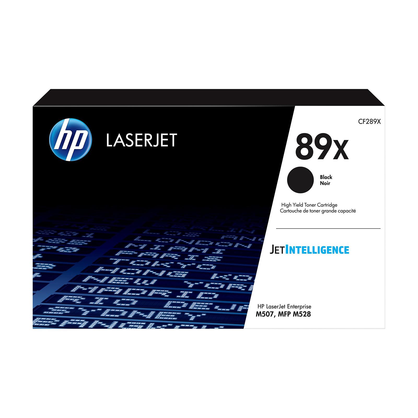 Hewlett Packard 89X Laser Toner Cartridge High Yield Page Life 10,000pp Black Ref CF289X