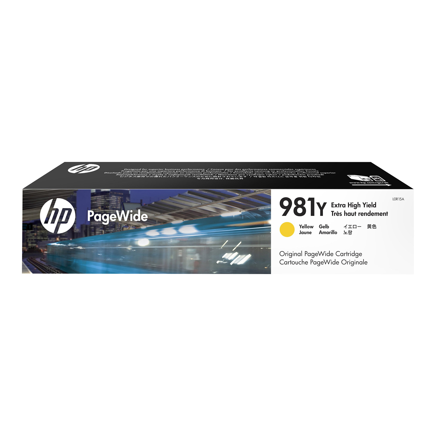 Hewlett Packard 981Y Pagewide Ink Cartridge Extra High Yield 16000pp 182.5ml Yellow Ref L0R15A