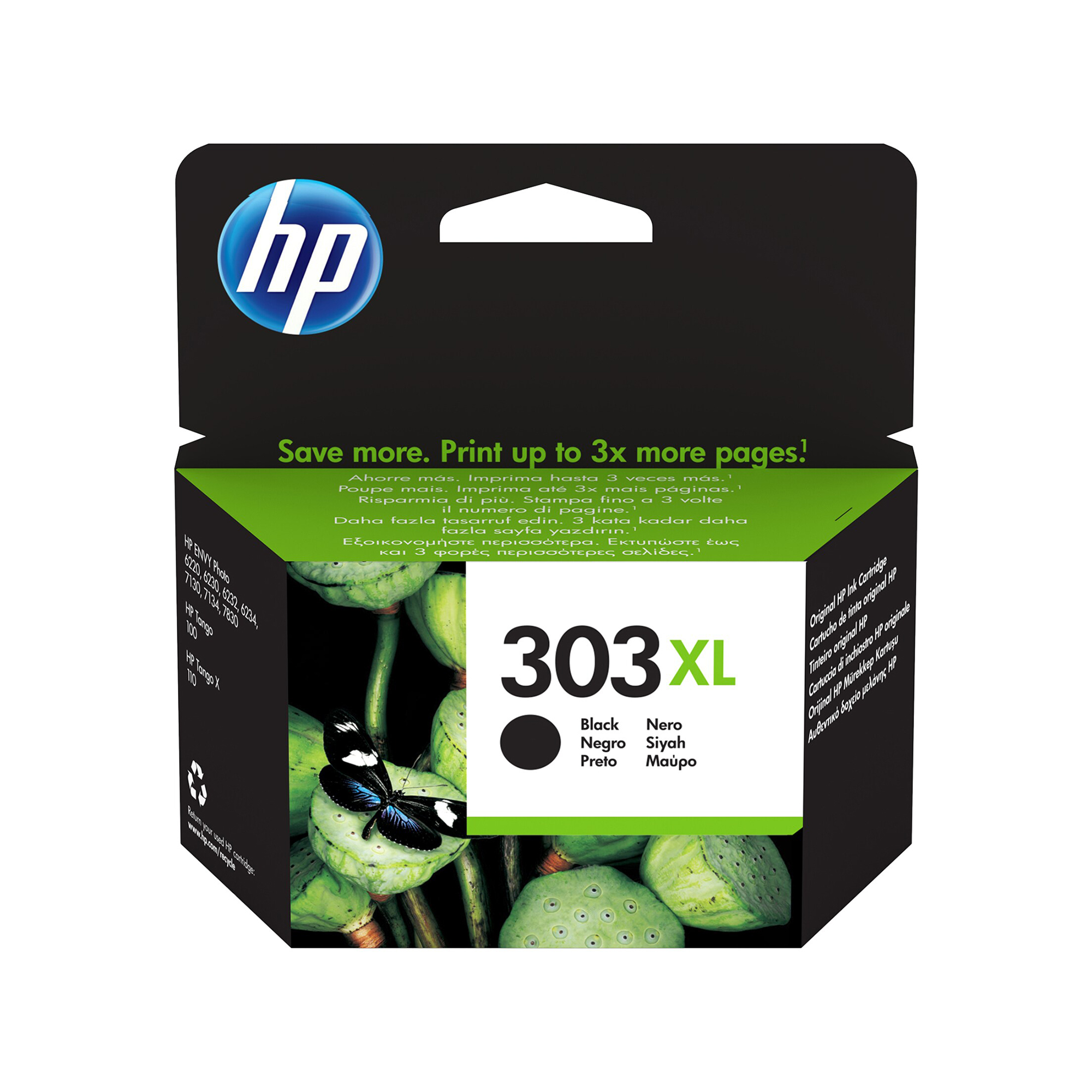 Hewlett Packard 303XL Inkjet Cartridge High Yield Page Life 600pp 12ml Black Ref T6N04AE