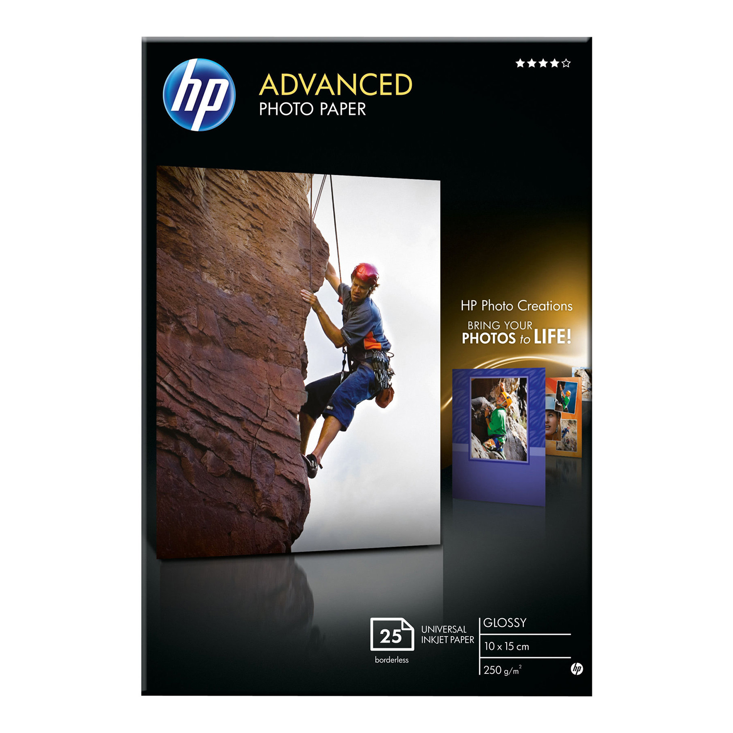 Hewlett Packard Advanced Glossy Photo Paper 10x15cm 250gsm Ref Q8691A [25 Sheets]