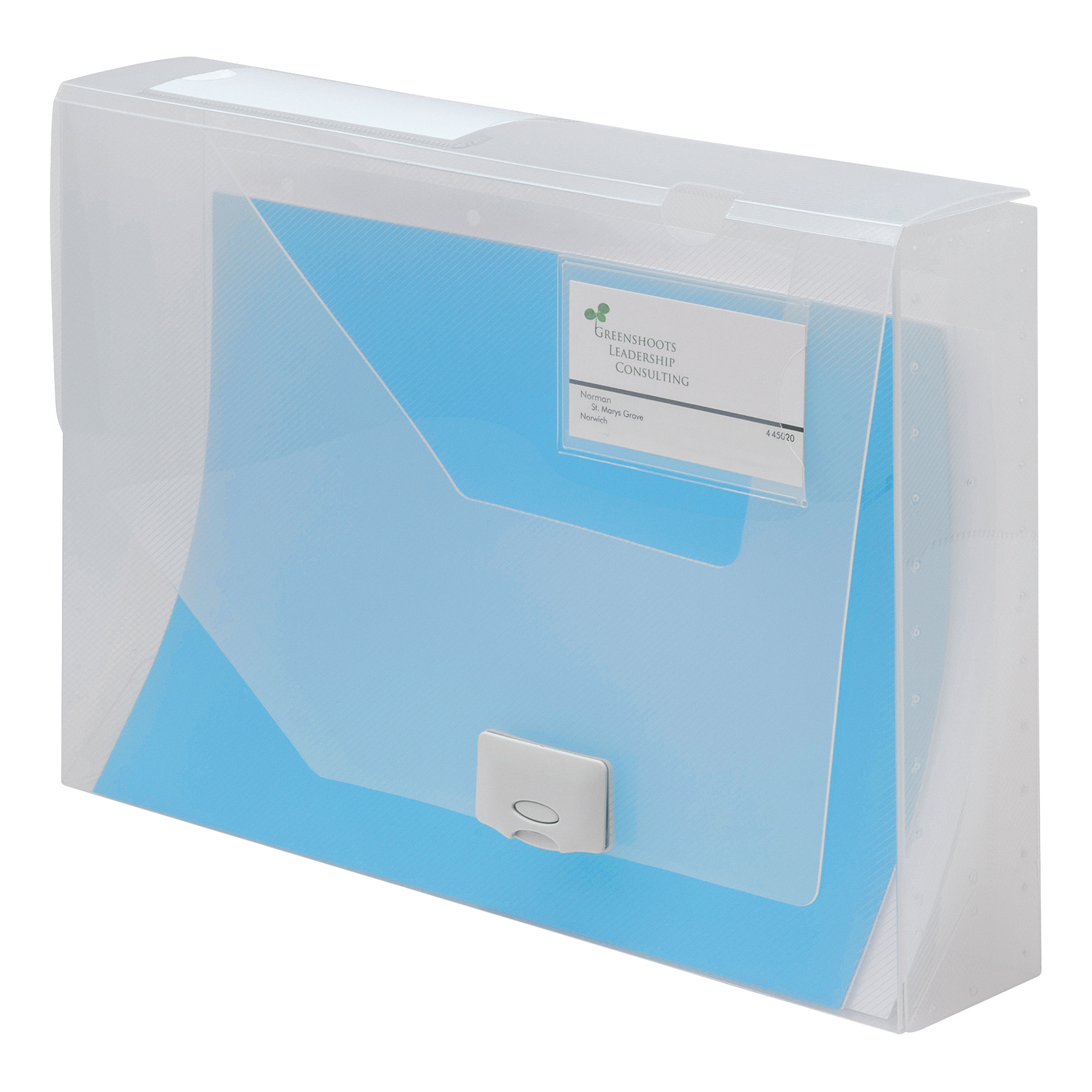 5 Star Office Document Box Polypropylene 60mm A4 Clear [Pack 10]