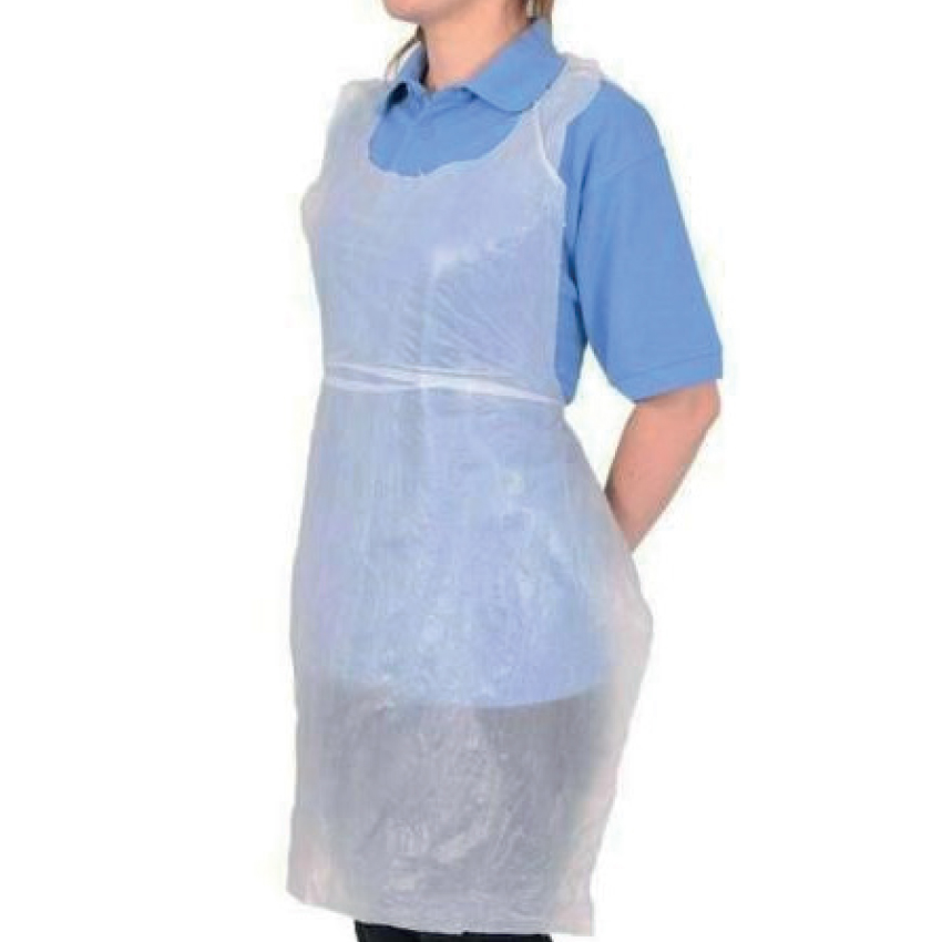 5 Star Facilities White Disposable Apron Flat Packed 660 x 1066mm Pack 100