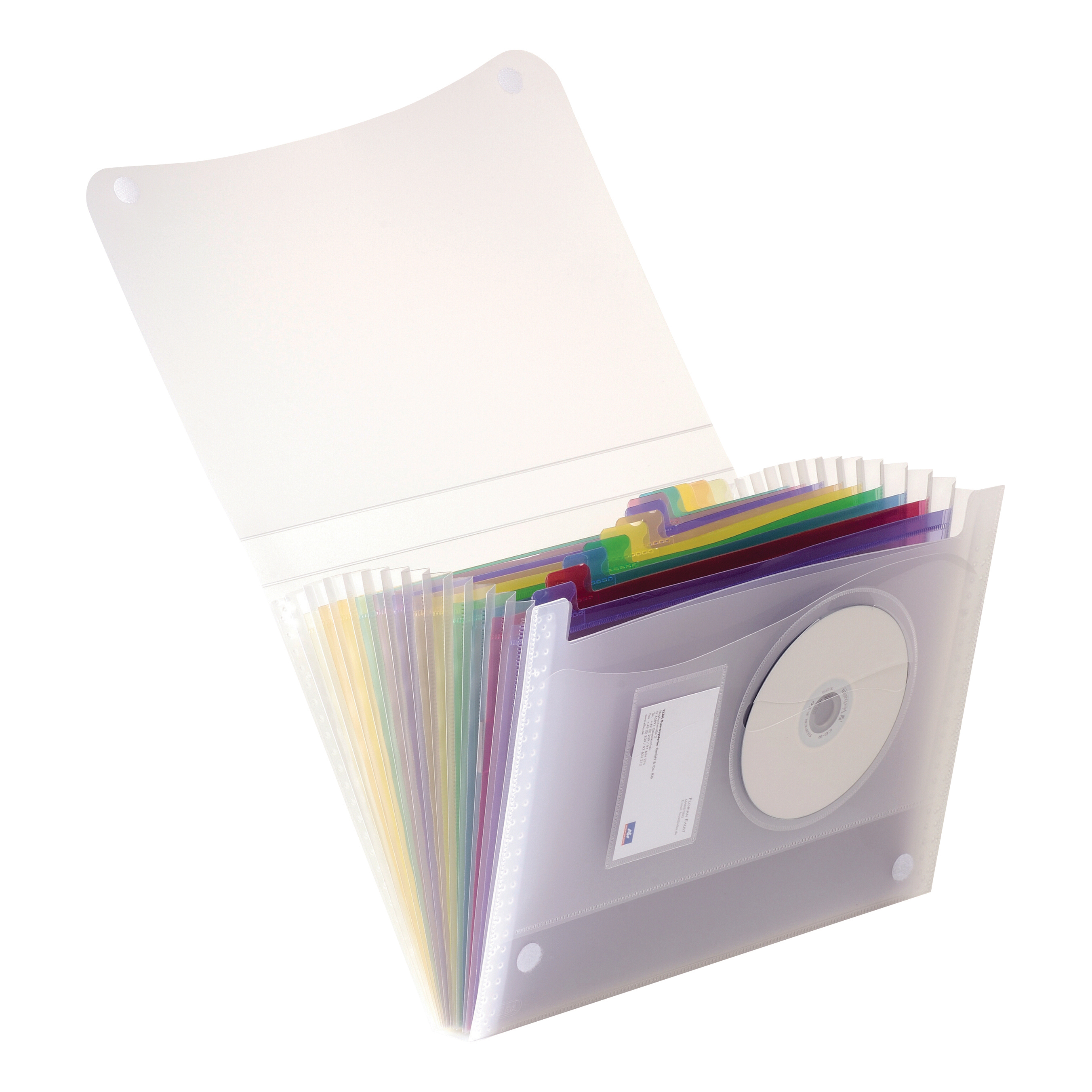 Expanding Files Oxford Expanding File Coloured 13 Pockets Polypropylene Velcro Fastening A4 Clr Ref 100208980