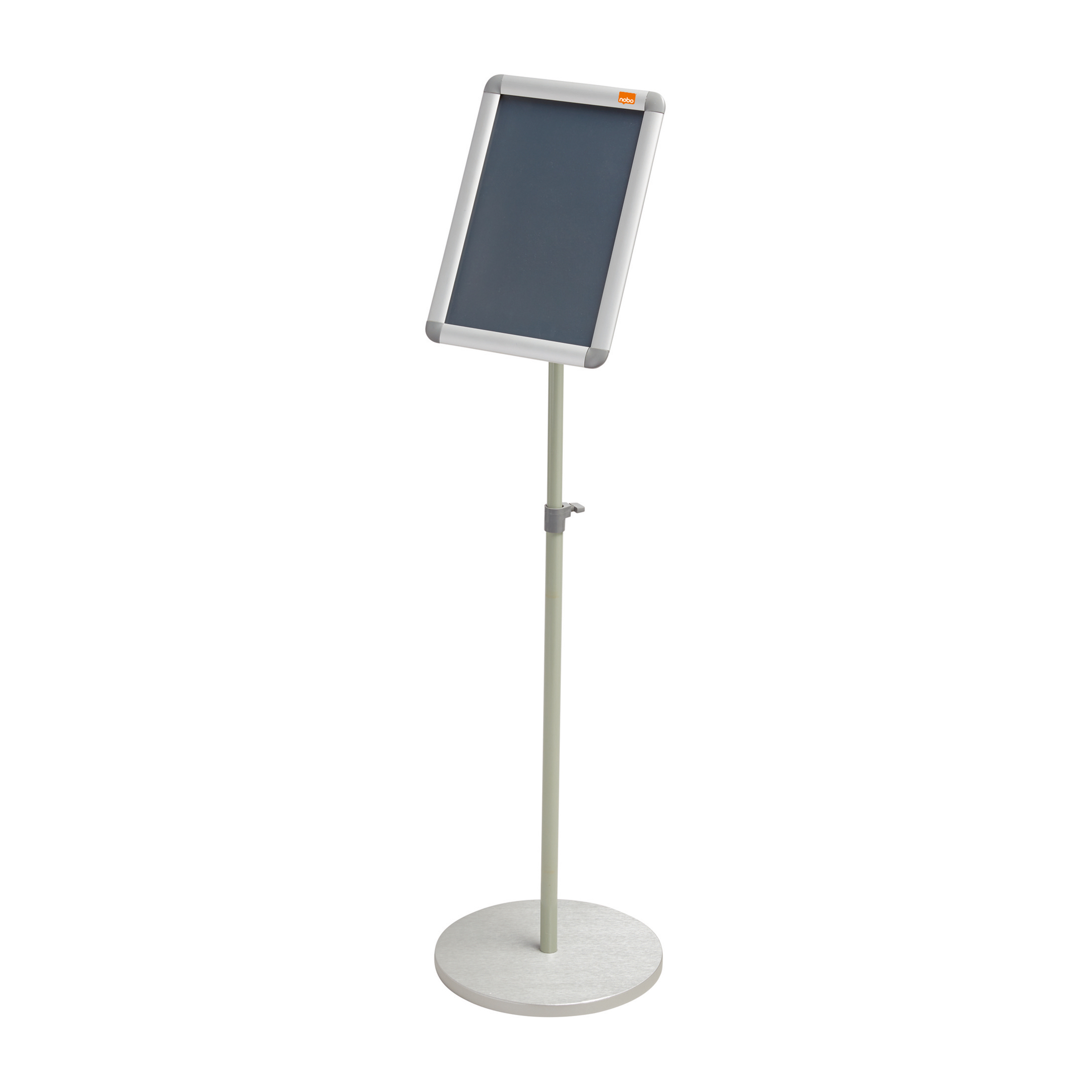 Certificate / Photo Frames Nobo Snap Frame Display Stand for A4 Documents Adjustable Height 950-1470mm Silver Ref 1902383