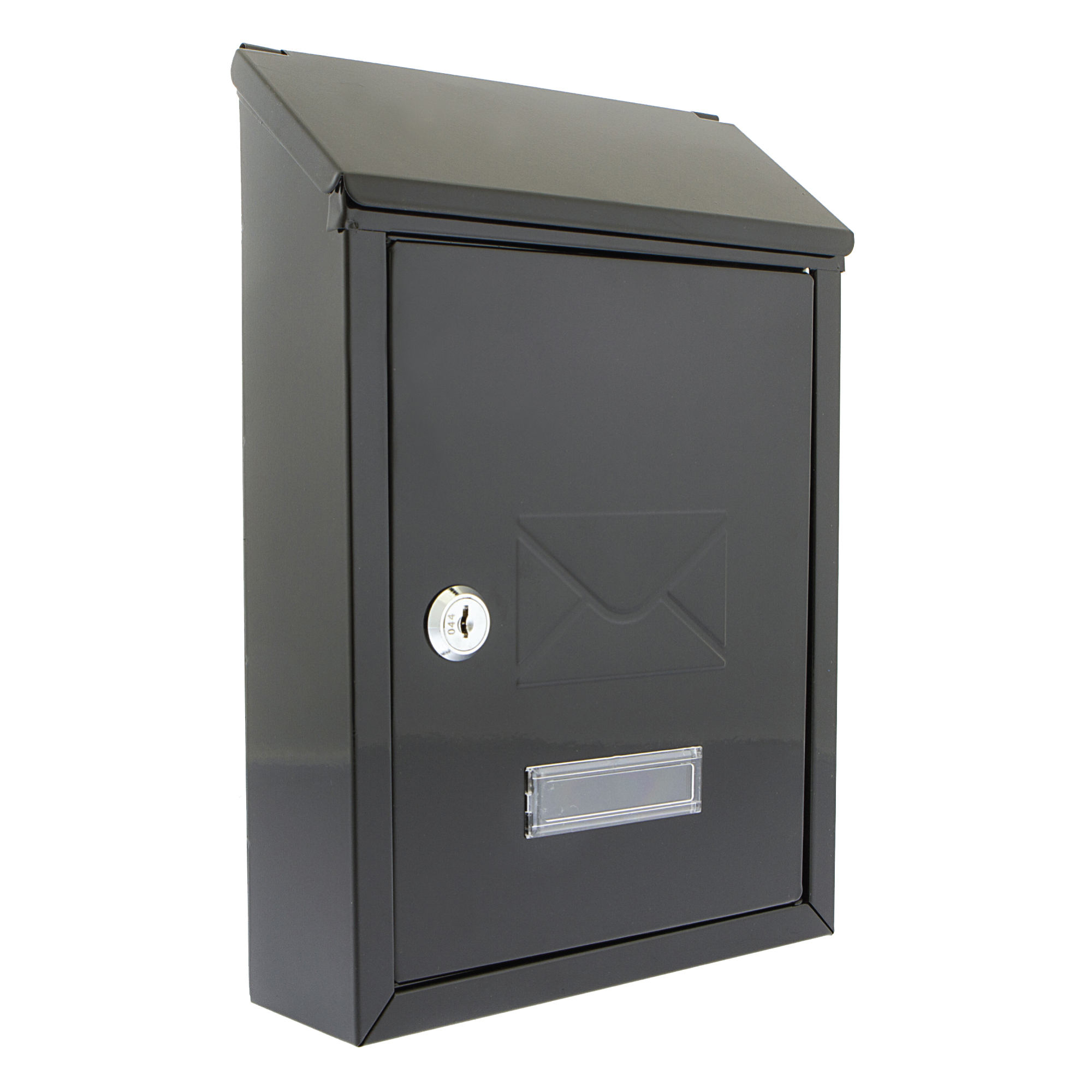 Document Post or Suggestion Box Wall Mountable with Fixings 223x86x320mm Black