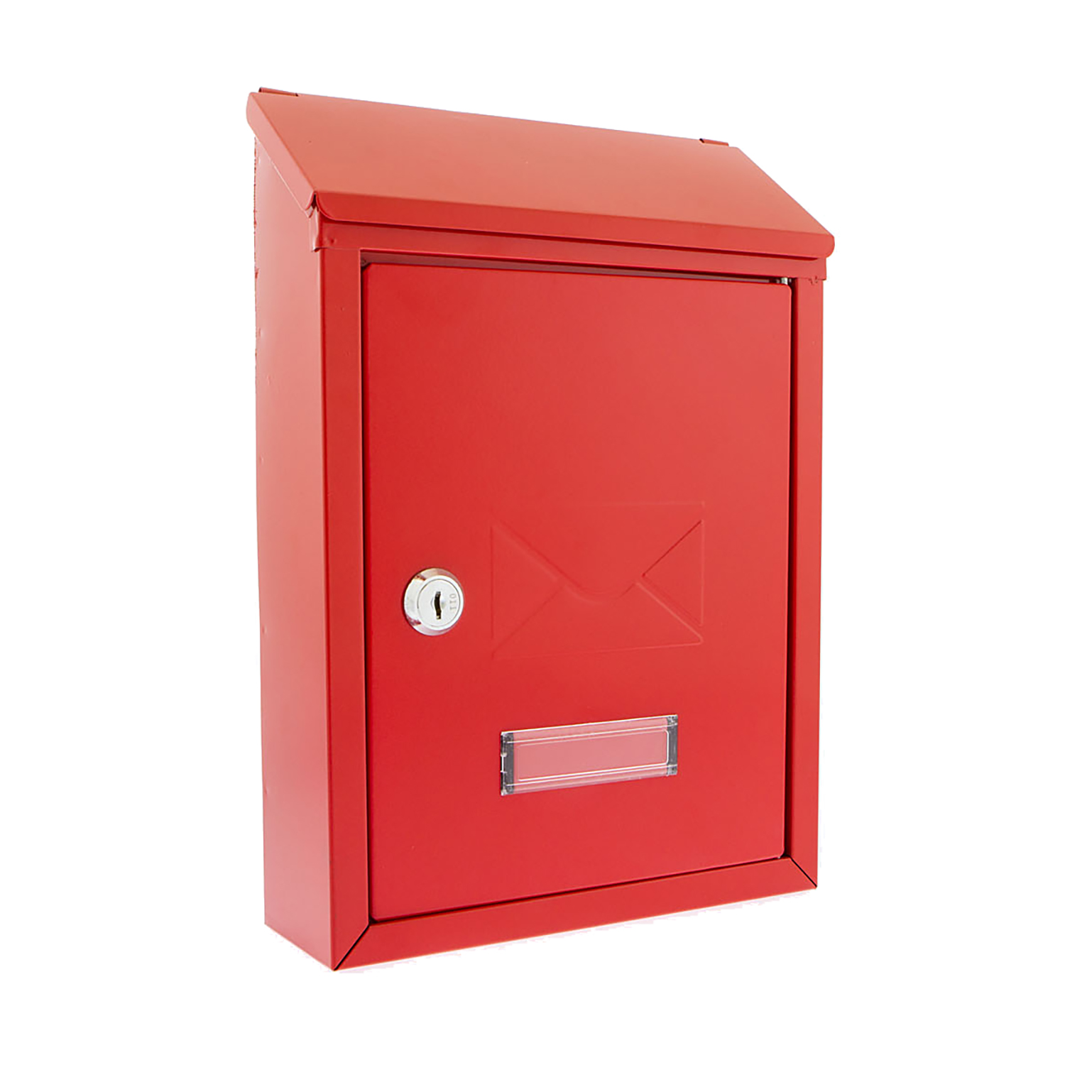 Document Post or Suggestion Box Wall Mountable with Fixings 223x86x320mm Red