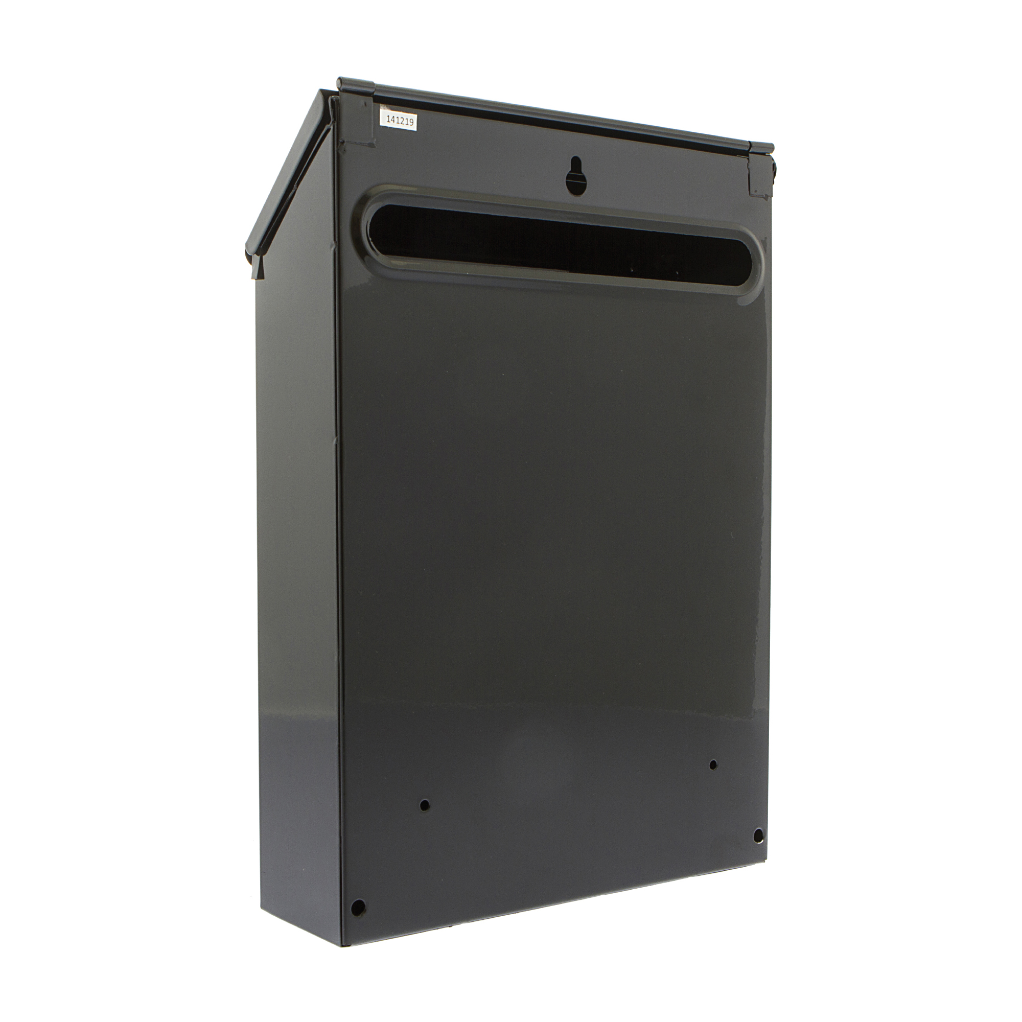 Post or Suggestion Box Wall Mountable with Fixings 223x86x320mm Black