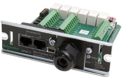 APC SmartSlot Additional Management Cards and Options Dry Contact I/O