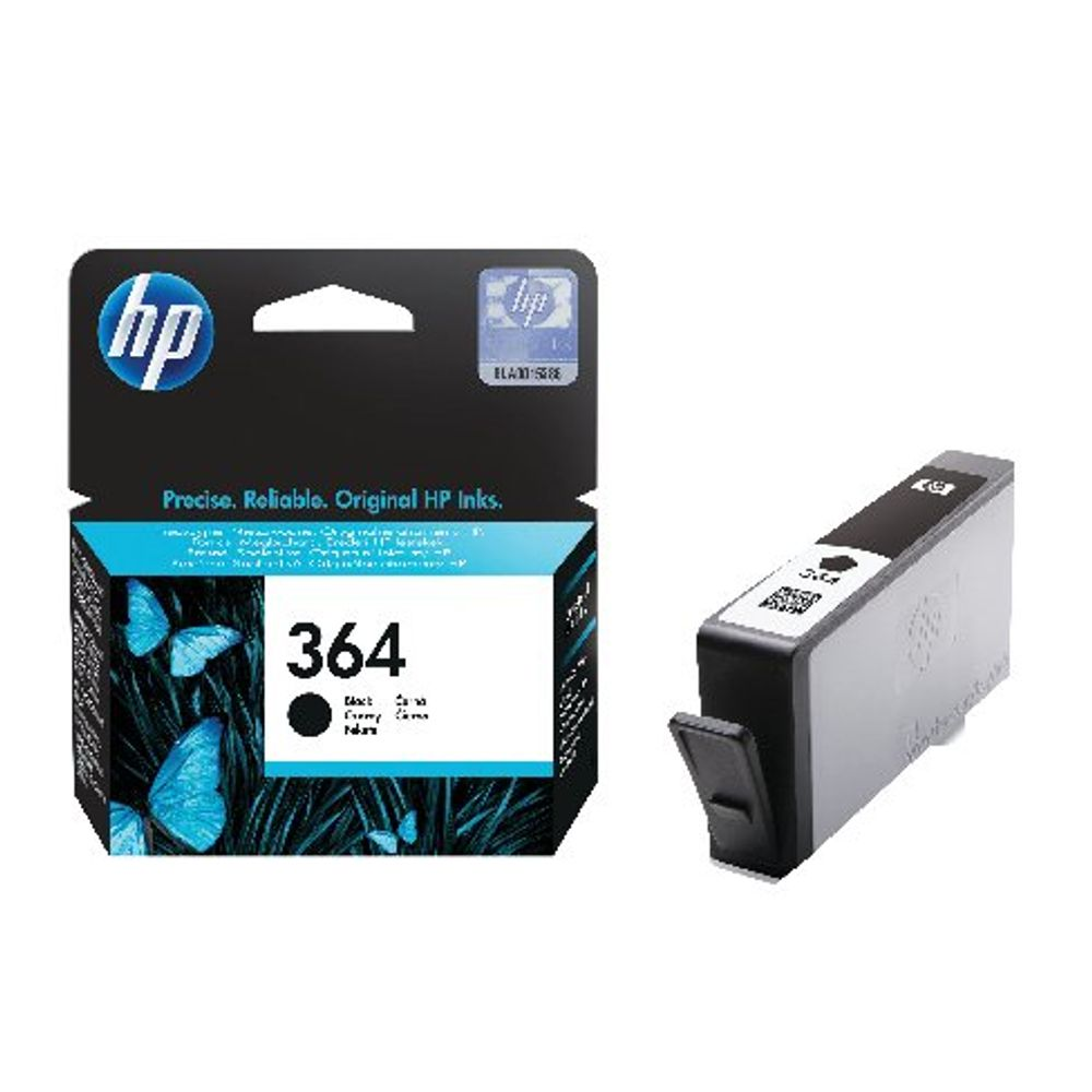 HP 364 (Yield: 250 Pages) Black Ink Cartridge