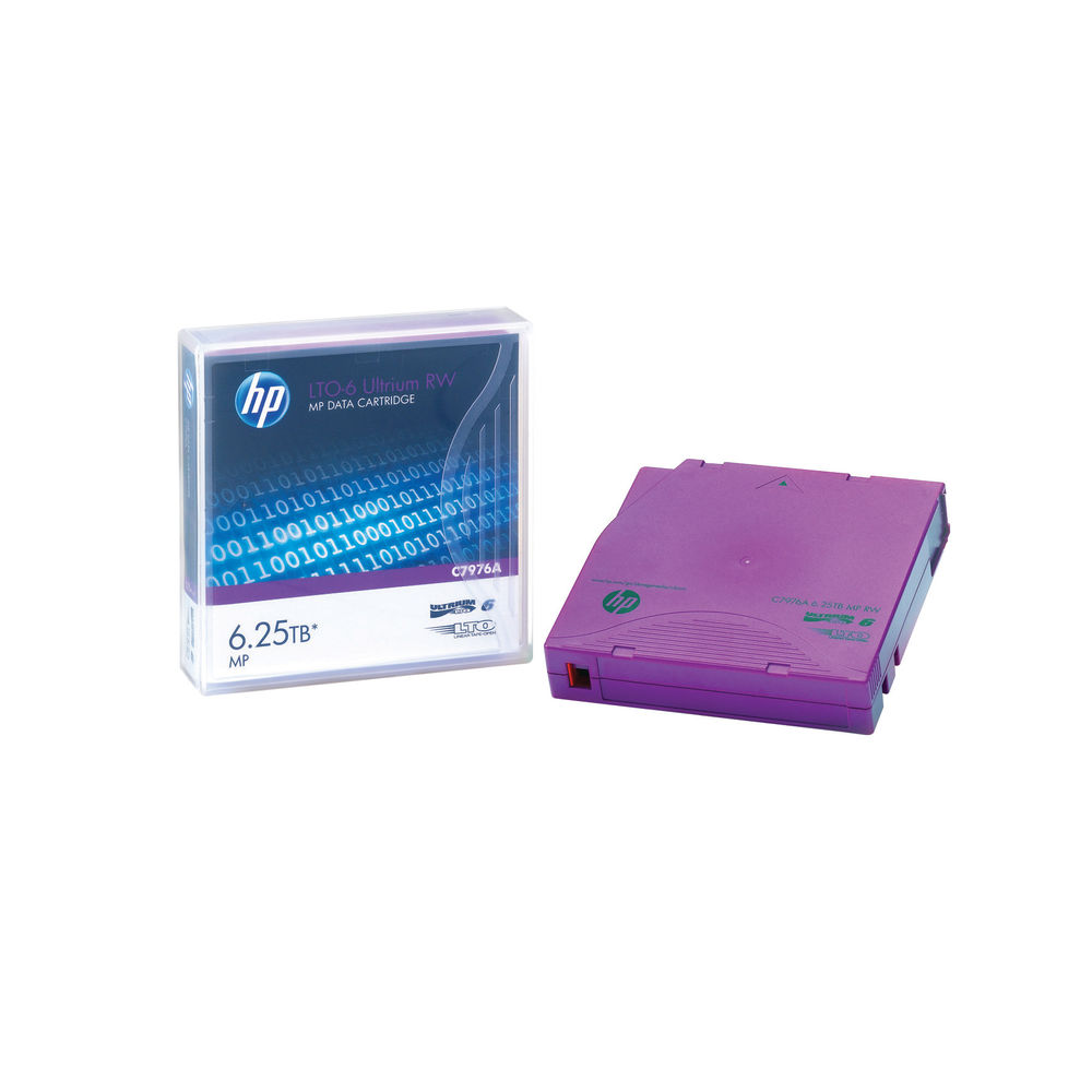 HP (3/6.25TB) 2.5:1 Compression 846m 400MB/s LTO-6 RW Ultrium Data Tape Cartridge (Purple) Pack of 20