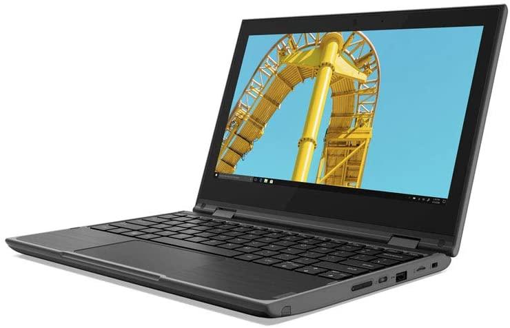 Lenovo 300e 2nd Gen (11.6 inch) 2-in-1 PC Celeron (N41200 1.1GHz 4GB 128GB SSD WiFi Webcam Windows 10 Pro (UHD Graphics 600)