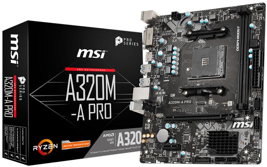 MSI A320M-A PRO AMD AM4 A320 m-ATX Motherboard