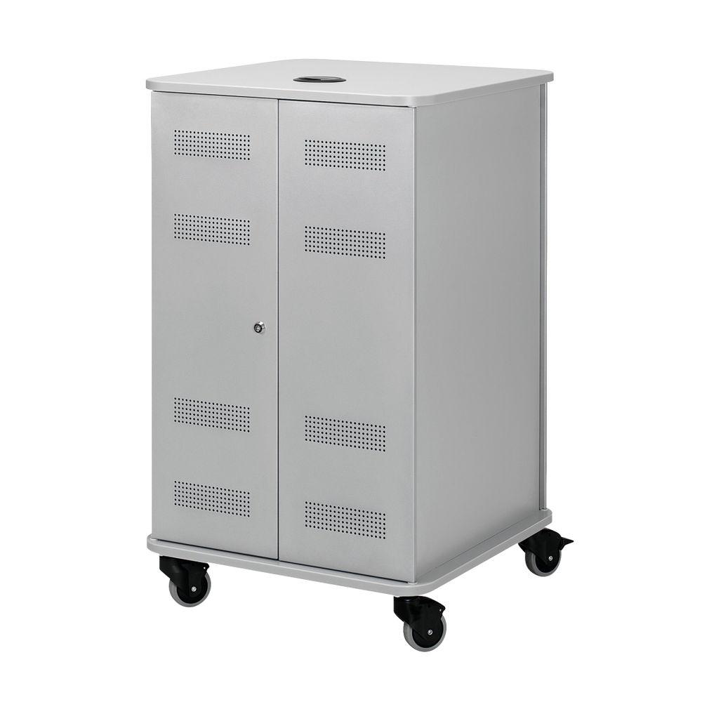 Nobo Multimedia Cabinet (Silver/Grey)