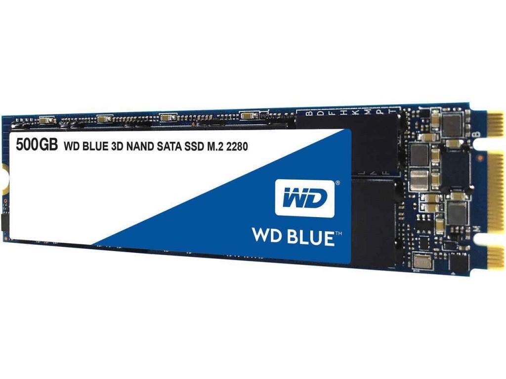 WD Blue (500GB) 3D NAND SATA III 6Gb/s M.2 Solid State Drive (Internal)