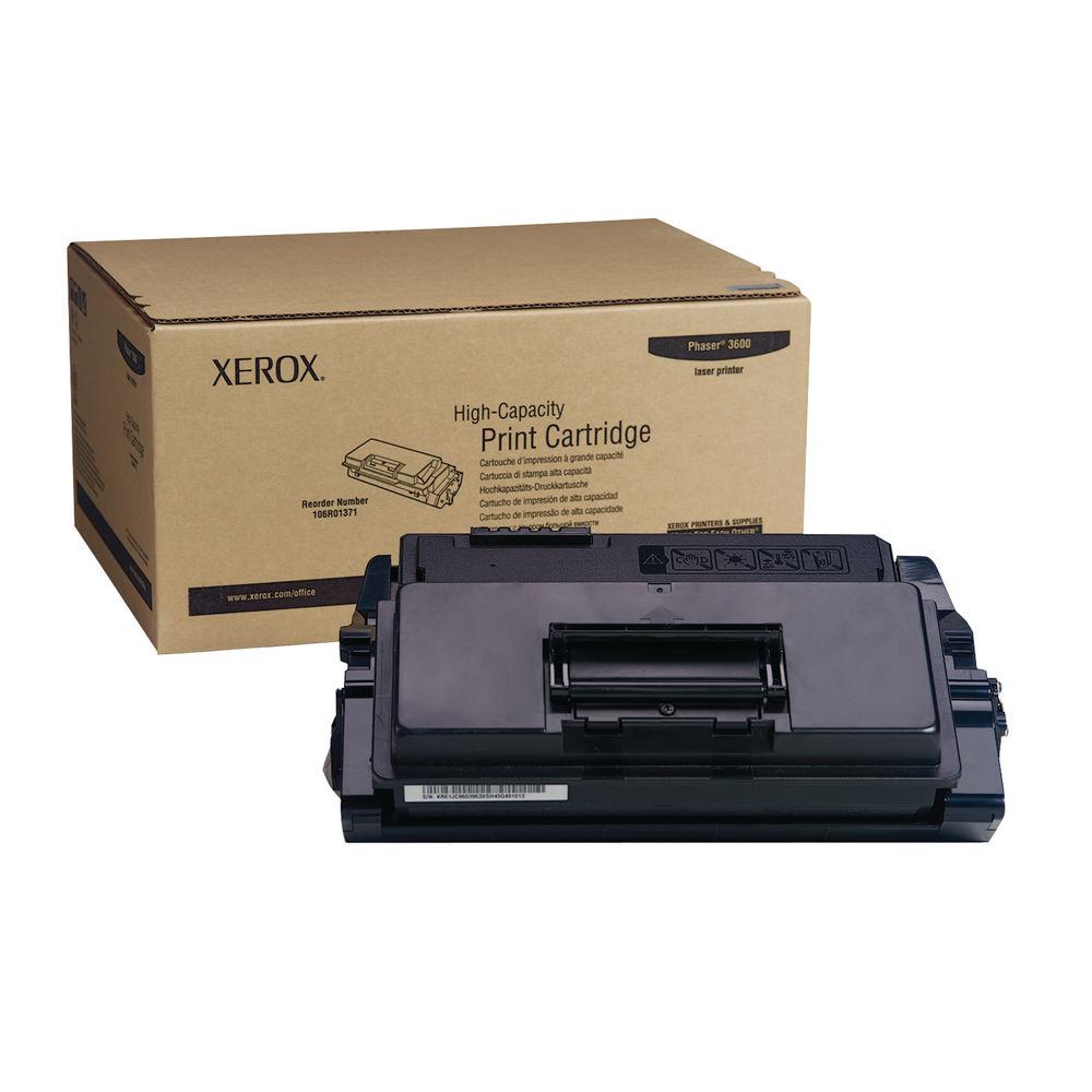Xerox 106R01371 (Yield: 14,000 Pages) High Capacity Black Toner Cartridge