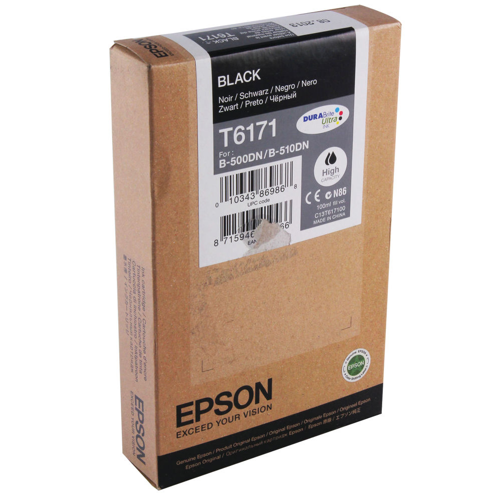 Epson T6171 (100ml) High Capacity Black Ink Cartridge
