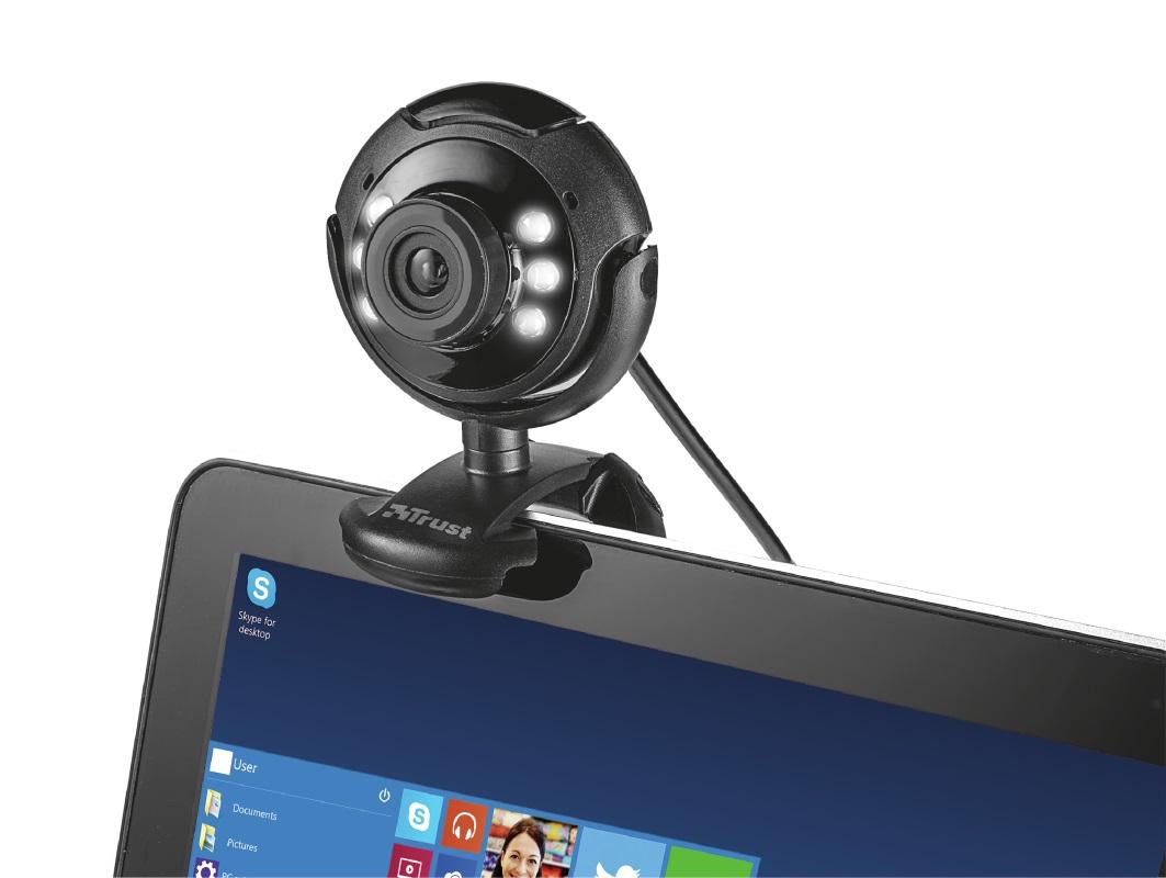 Trust SpotLight Webcam Pro 1.3 Megapixel (Black)