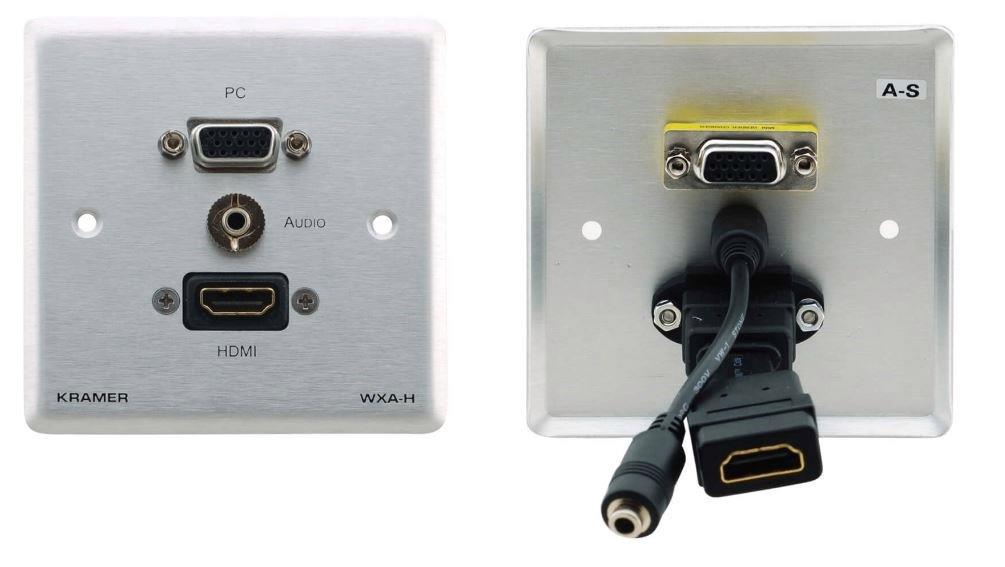 Kramer Electronics WXA-H Passive Wall Plate 15-Pin HD, 3.5mm Audio and HDMI