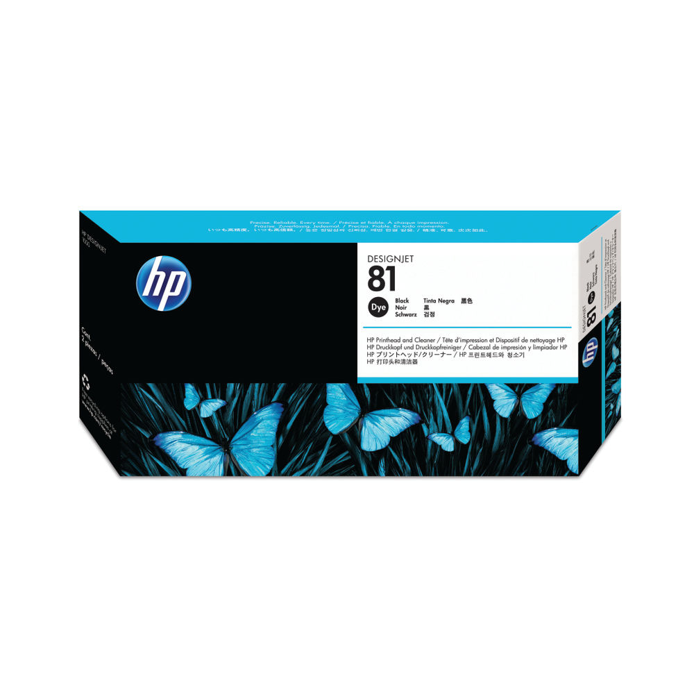 No. 81 Dye Ink Printhead and Cleaner - Black