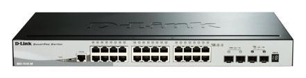 D-Link SmartPro DGS-1510-28P (28-Port) Gigabit PoE Stackable Switch