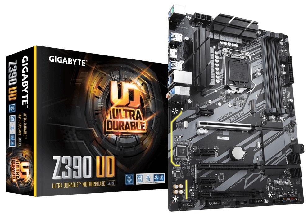 Gigabyte Z390 UD Intel Z390 Motherboard (ATX) RAID Gigabit LAN (Intel HD Graphics)
