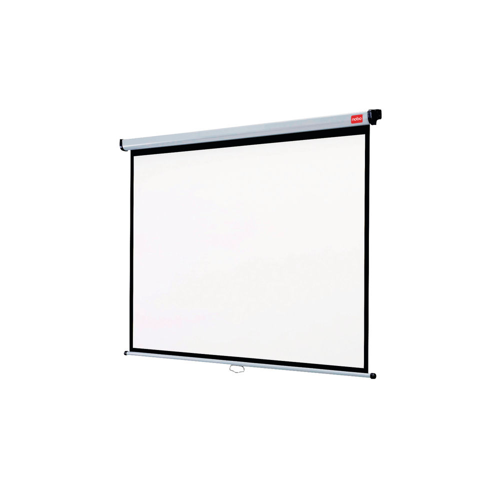 Nobo (1750x1325mm) Wall-Mounted 4:3 Projection Screen (Black-Bordered)