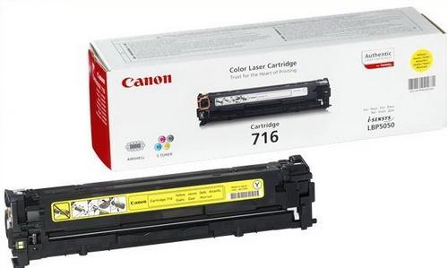 Canon 716 (Yield: 1,500 Pages) Yellow Toner Cartridge