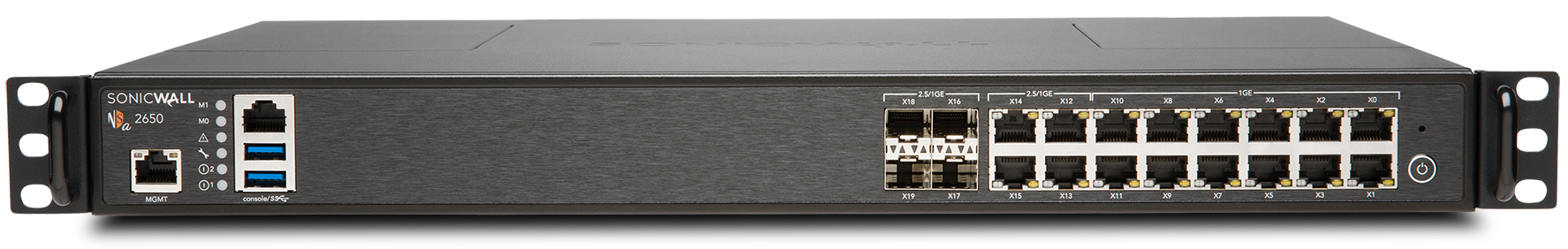 SonicWall NSA 2650 Network Security Appliance with 1 Year TotalSecure Advanced Edition Subscription