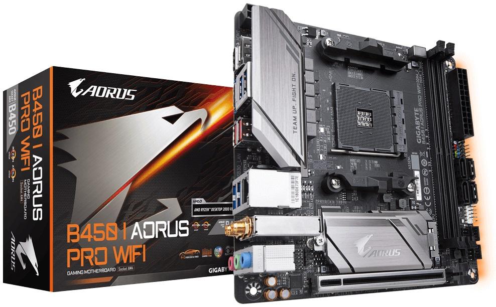 Gigabyte B450 I AORUS Pro AMD AM4 B450 Motherboard (Mini-ITX) Gigabyte LAN (Integrated Graphics)