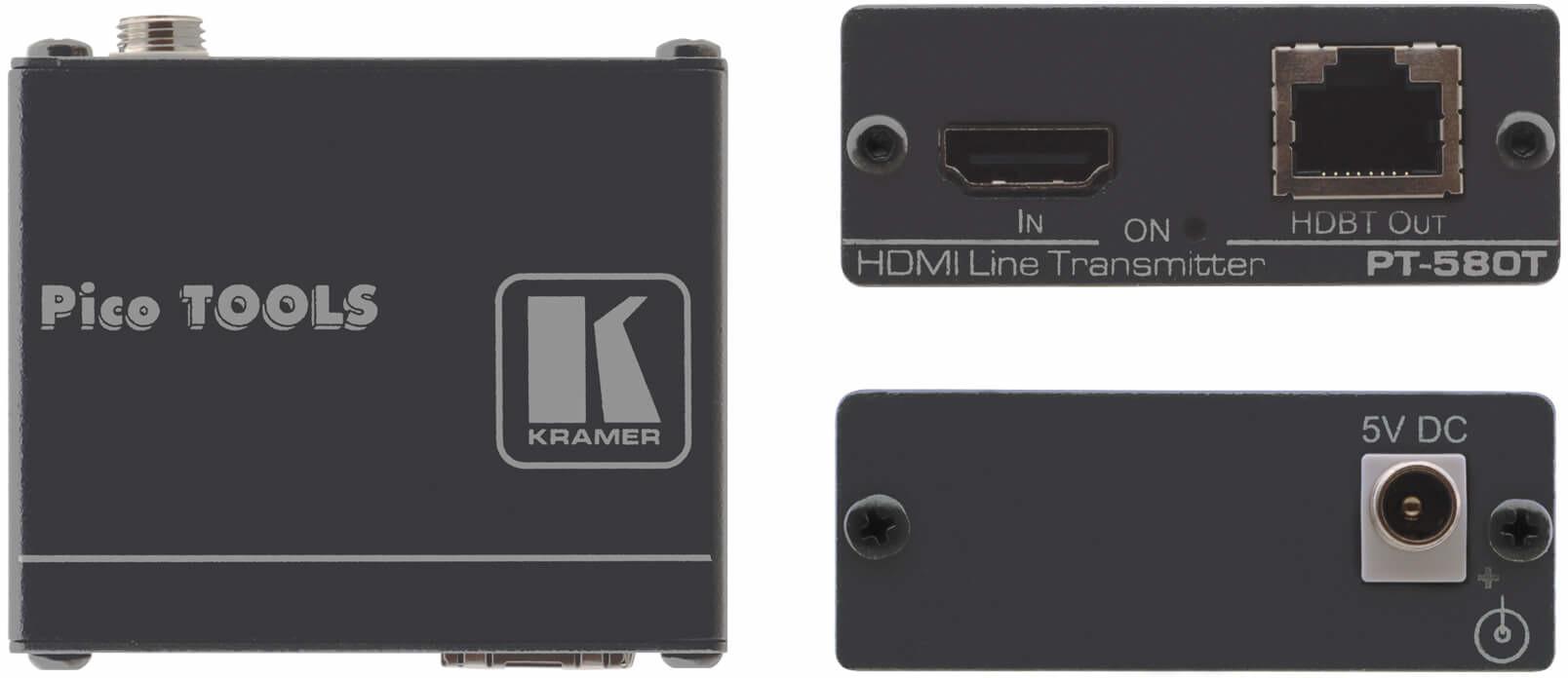 Kramer Electronics 4K60 4:2:0 HDMI HDCP 2.2 Compact Transmitter over Long-Reach HDBaseT