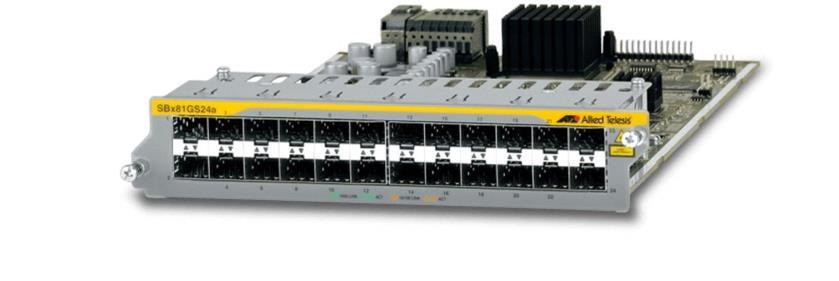 Allied Telesis 24-Port 100/1000X SFP Ethernet Line Card