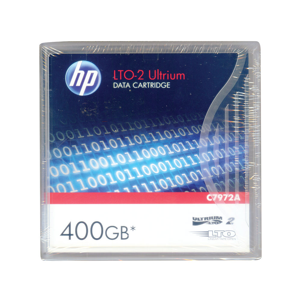 HP (200/400GB) 2:1 Compression 609m 60MB/s LTO-2 Ultrium Data Tape Cartridge (Red) Pack of 5