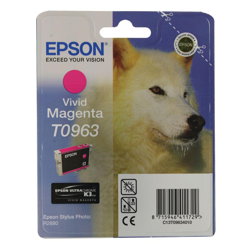 Epson T0963 Vivid Magenta Ink Cartridge - 13ml