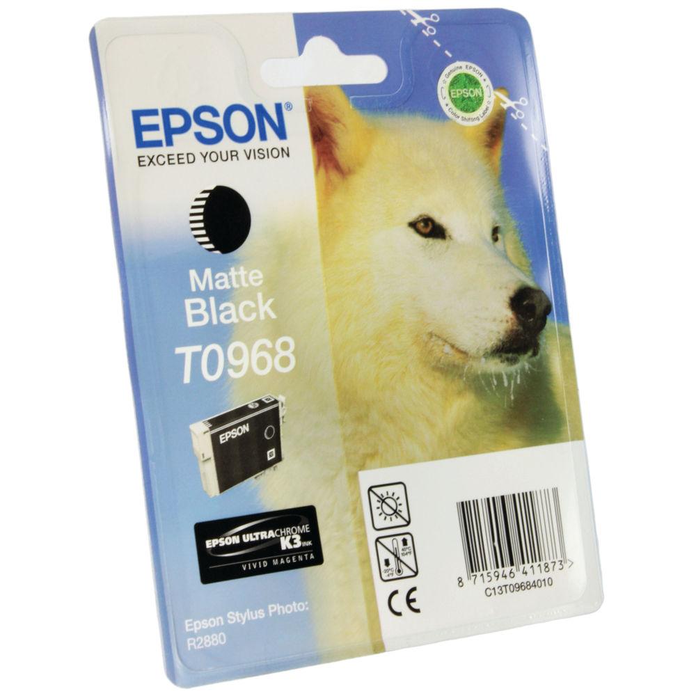 Epson T0968 Matte Black Ink Cartridge - 13ml