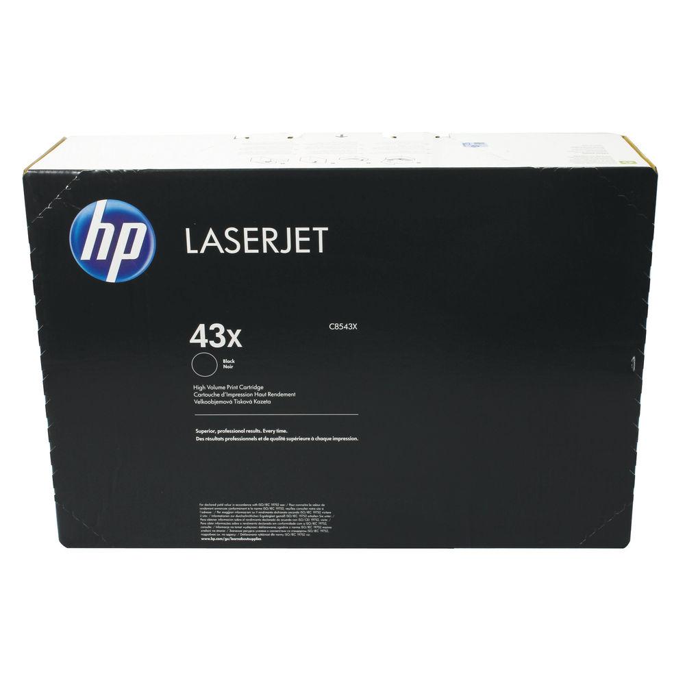 HP 43X (Yield: 30,000 Pages) High Capacity Black Toner Cartridge