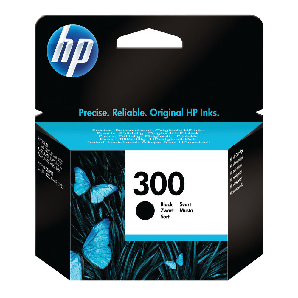 HP 300 (Yield: 200 Pages) Black Ink Cartridge