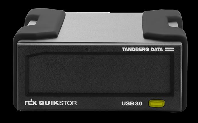 Tandberg Data RDX QuikStor USB+ External Drive Kit with 4TB Cartridge (Black) for RDX Media (Drive and Media)
